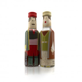 Cyclades Couple gogreek® Οuzo Miniatures (2x50ml)