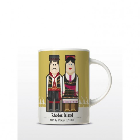 Rhodes Couple gogreek® Mug Traditional Costumes