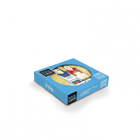Traditional Costumes gogreek® Coaster (Set of 12 pcs) - Available in English and Greek Traditional Costumes