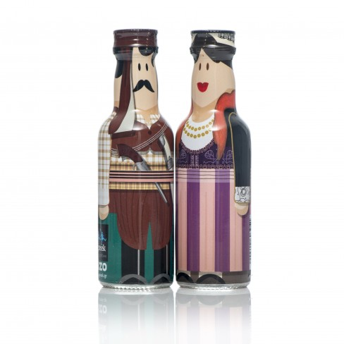 Pontus Couple gogreek® Οuzo Miniatures (2x50ml) Traditional Costumes