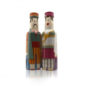 Santorini Couple gogreek® Οuzo Miniatures (2x50ml)