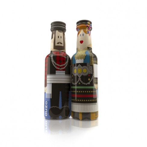 Macedonia Couple gogreek® Οuzo Miniatures (2x50ml) Traditional Costumes